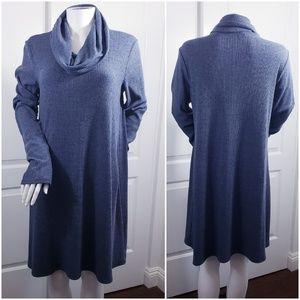 Socialite rayon sweater dress cowl neck